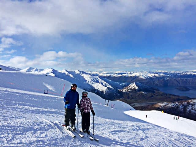 Skiing – I hope no one is watching!
